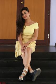 Shipra gaur in V Neck short Yellow Dress ~  005.JPG