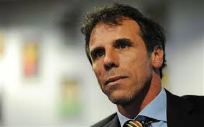 Zola in action against Chelsea
