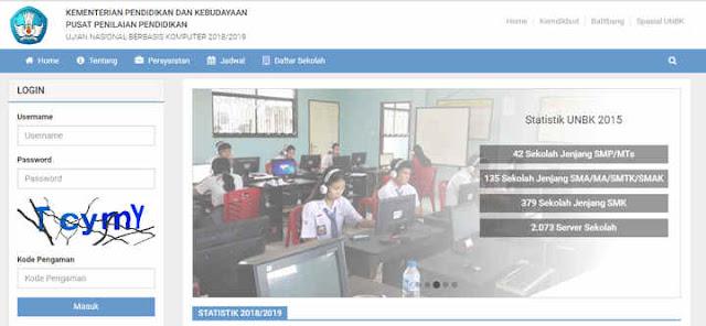 Info Username Dan Cara Login Web UNBK Terbaru