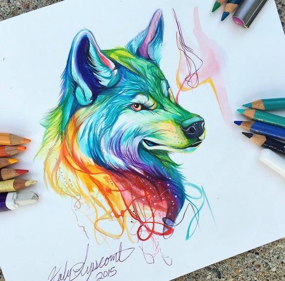gambar keren kreatif dan menarik dengan menggunakan pensil warna-1