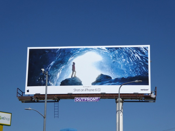 Shot on iPhone 6s Douglas S Ice cave billboard
