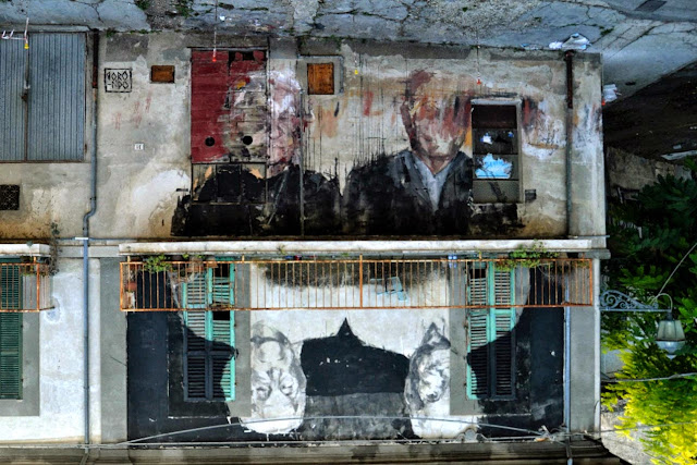 Spanish Street Artist Borondo Newest Mural For Visione Periferica Urban Art  Event In Italy.