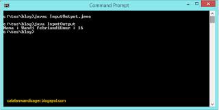 Input dan output pada Java
