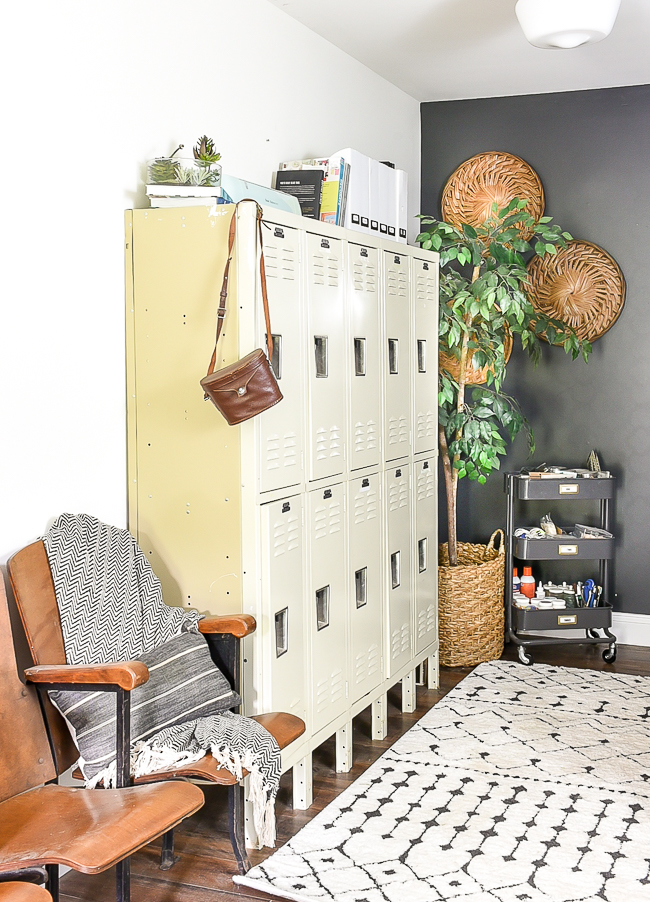 Lockers used as office storage