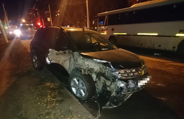 В Уфе столкнулись три автомобиля и автобус
