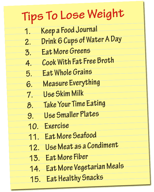 Healthy Diet To Lose Weight Tips