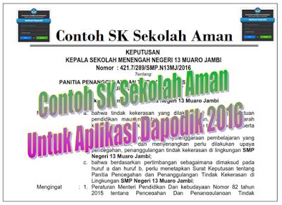 Contoh SK Sekolah Aman SD