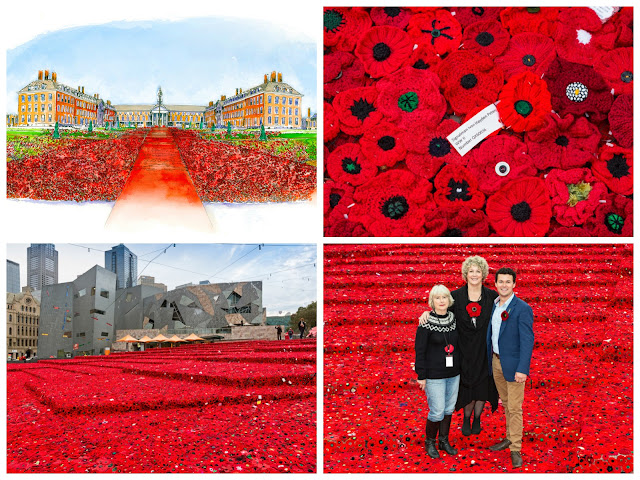 5,000 Poppies at RHS Chelsea Flower Show collage