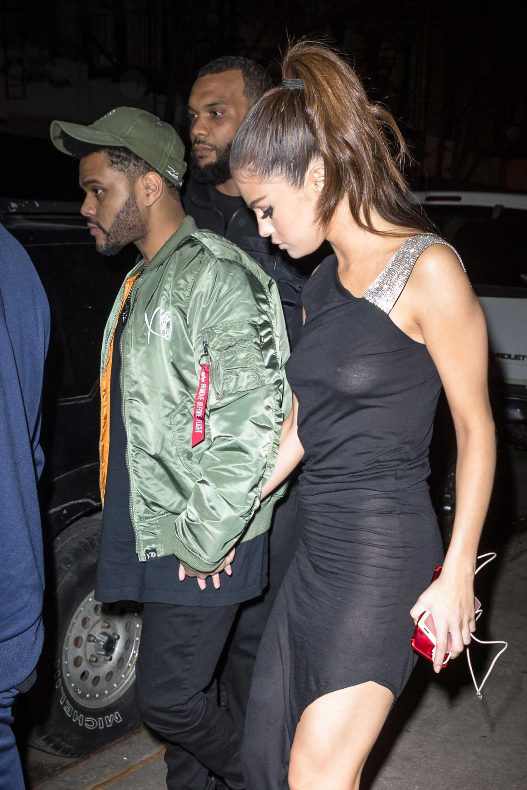 Selena Gomez shows off nipples in gown with The Weeknd