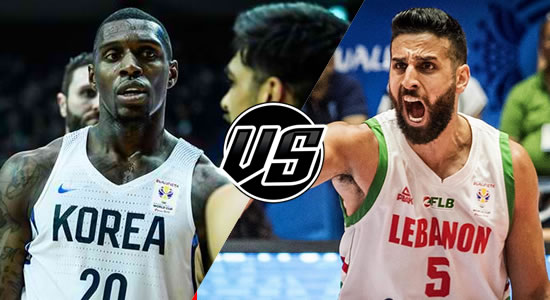 Live Streaming List: Korea vs Lebanon 2019 FIBA World Cup Qualifiers Asia 5th Window
