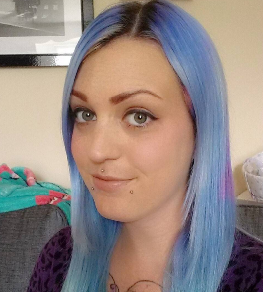 This Was My Hair Before I Bleached Roots Tried To Get Old Colour After Many Years Of Diffe Dyes The Main Part A Pale Blue