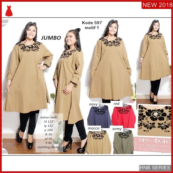 HNB161 Model Blouse Ukuran Besar Jumbo Bigsize Modis BMG Shop