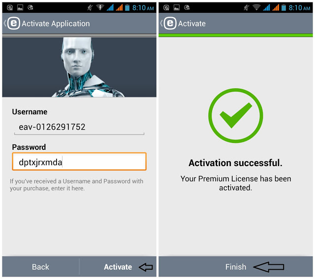eset mobile activation key