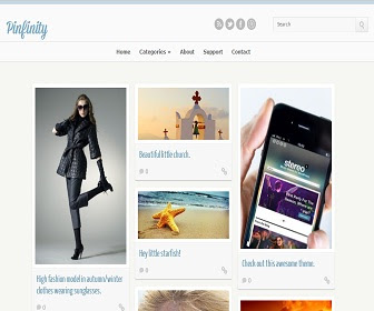 Pinfinity Responsive Blogger Template