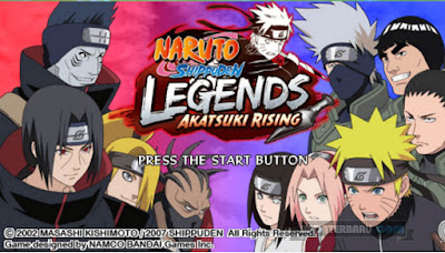 download Game Naruto Shippuden Legends Akatsuki Rising ISO Untuk PSP