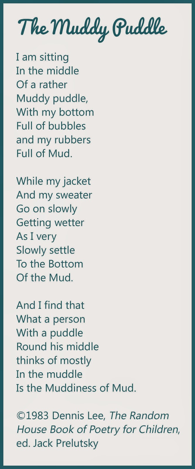Today's Little Ditty August 2014