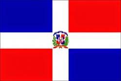 La bandera de la República Dominicana