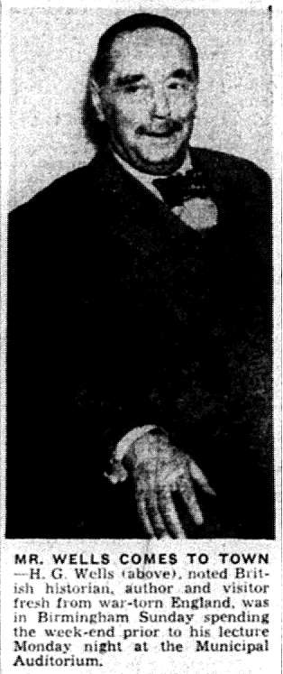newspaper clipping of Wells