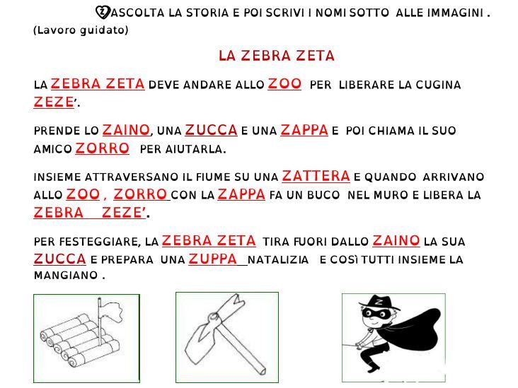 Favorito matiteinvolo: Una storia con la zeta - La consonante z CM66