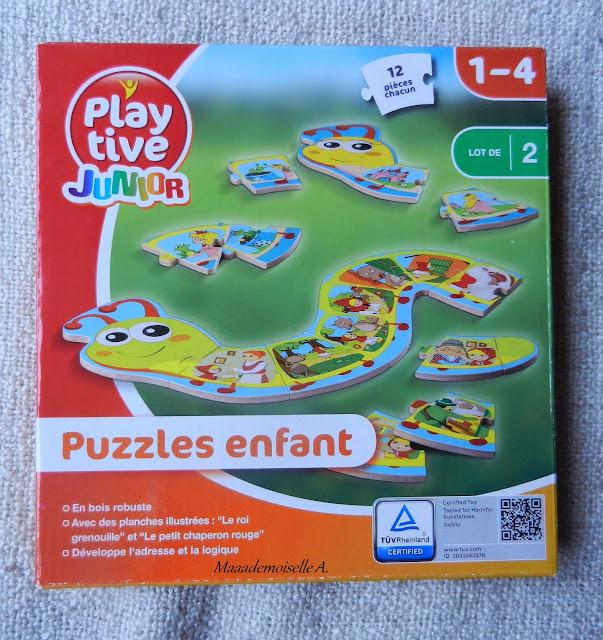 || Play Tive Junior : 2 puzzles chenille en bois (Présentation & Avis)