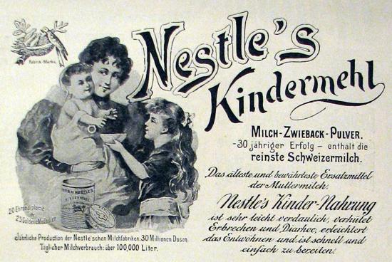 Nestlé advertisement 1898