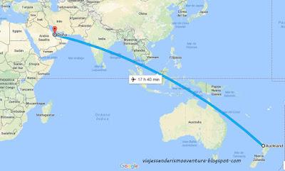 Vuelo más largo del mundo Auckland Doha