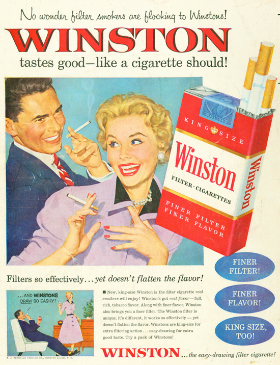 Winston advertisement 1954 - couple - A