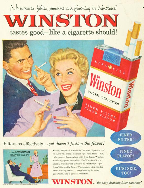 Winston advertisement 1954 - couple - A