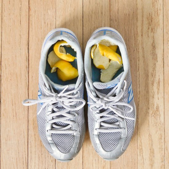USE LEMON PEELS AS A SHOE DEODORIZER