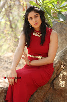 Telugu Actress Zahida Sam Latest Pos in Red Gown at RF Films New Movie Opening  0341.JPG