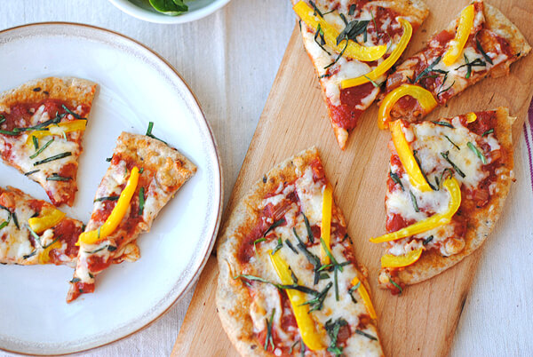 Whole Wheat Pita Bread Pizza