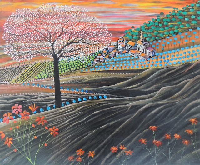Obra de arte en venta Manuel Carmona: pintura naíf