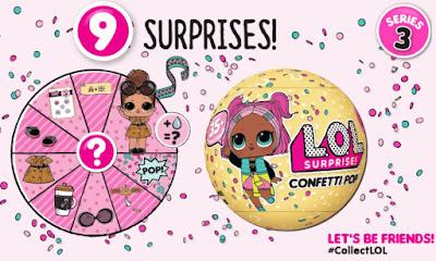 Желтый шарик ЛОЛ с 9 сюрпризами серия Взрыв конфетти