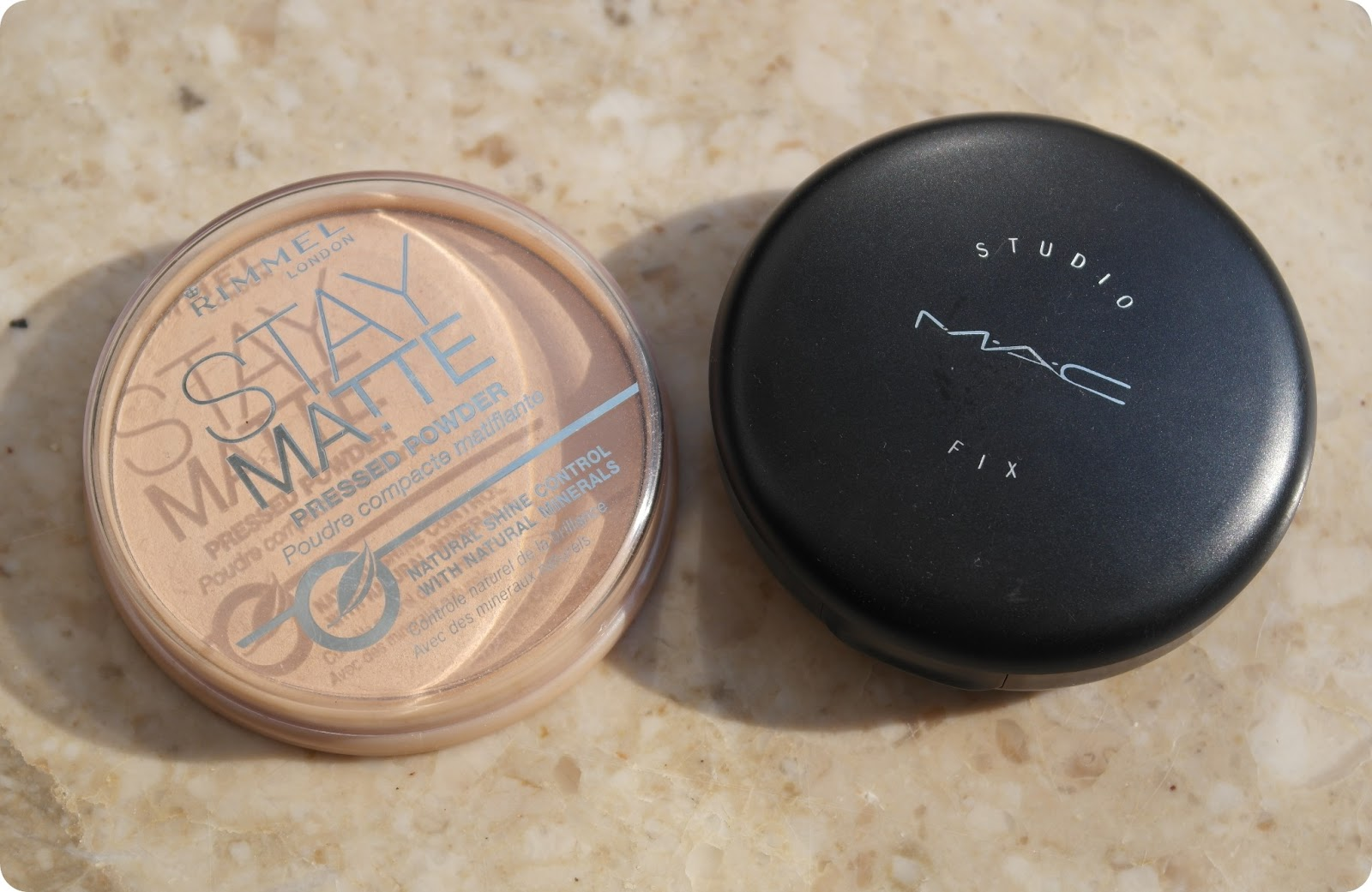Rimmel Stay Matte Pressed Powder and MAC Studio Fix Powder Plus Foundation  dupe, review and comparison