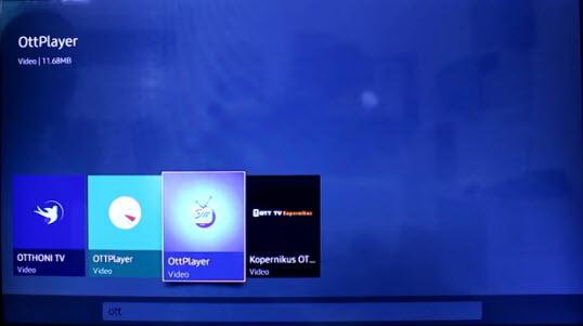 How install OTT Player on Samsung Smart Tv free alternarive for
