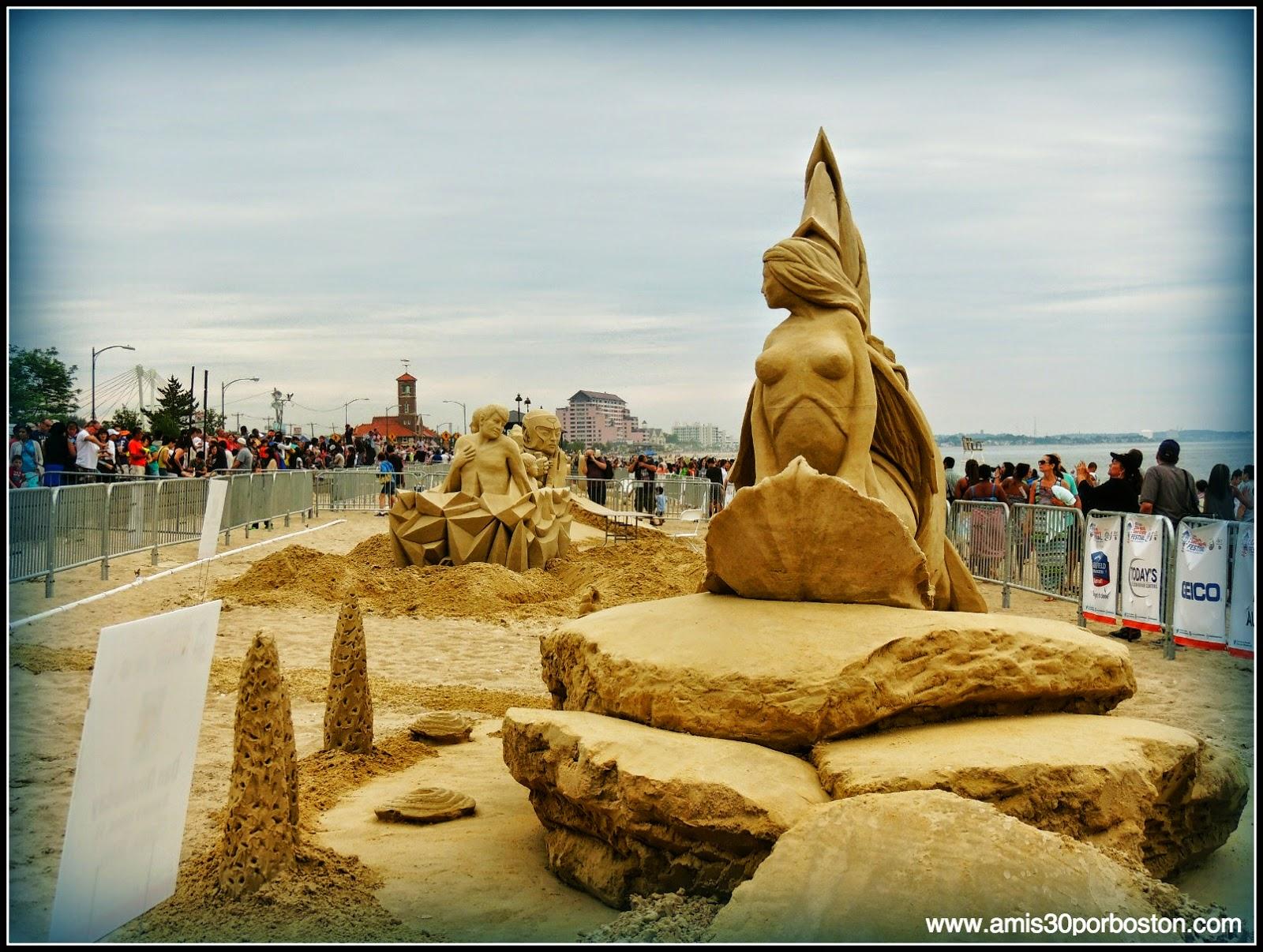 Revere Beach 2014 National Sand Sculpting Festival: Esculturas de Arena