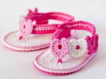 Sandalias tejidas al crochet paso a paso para bebe