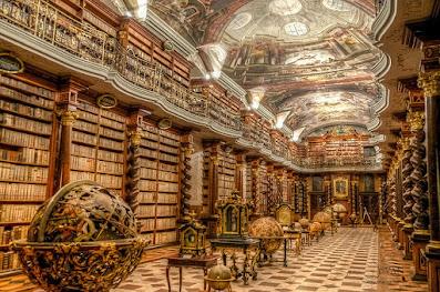 Η πιο όμορφη βιβλιοθήκη του κόσμου στην Πράγα της Τσεχίας