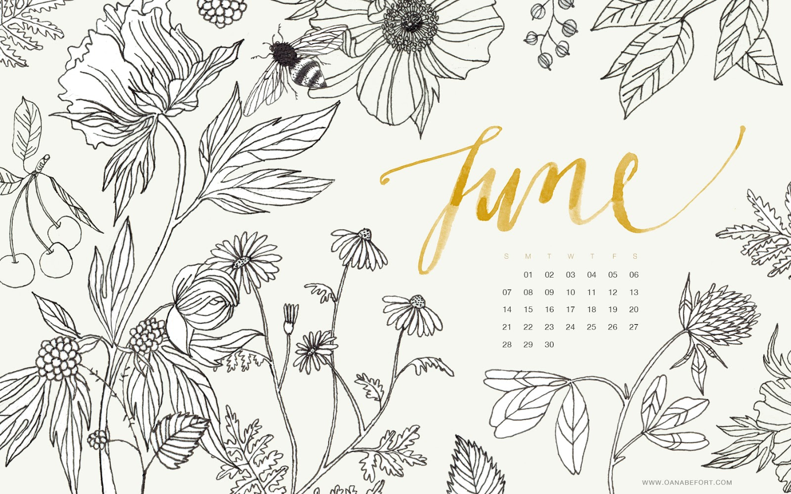 Desktop Calendar 2015 Illustration