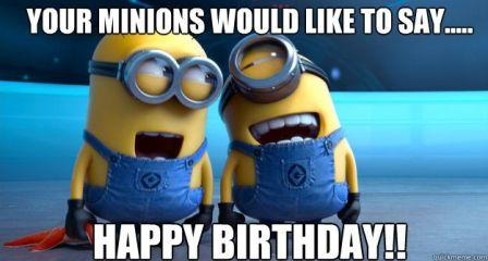 minion birthday cards