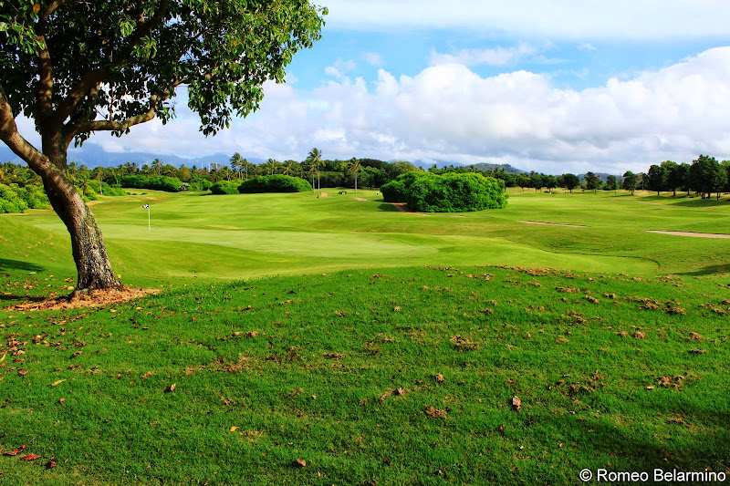 View from the Putting Green Kauai Lagoons Golf Club Hawaii