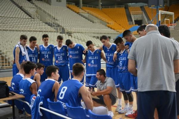 Εθνική Παίδων: Ελλάδα-Γερμανία 70-64 (φιλικό προετοιμασίας)