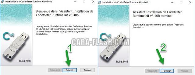Install CodeMeterRuntime.exe