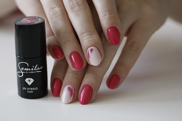 Semilac 007 Pink Rock i naklejki wodne