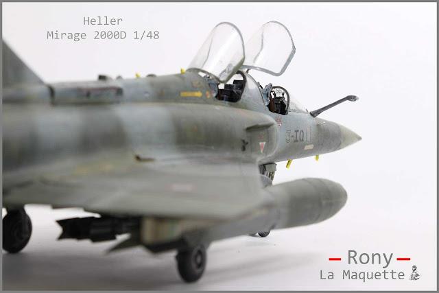 Mirage 2000D d'Heller au 1/48.