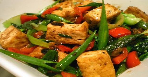 Tokwa At Tausi( Tofu In Black Bean Sauce) Recipe