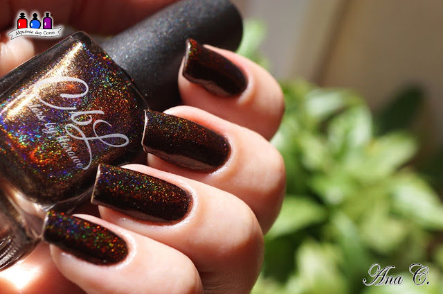 colors by llarowe, mocha grande, marrom holográfico