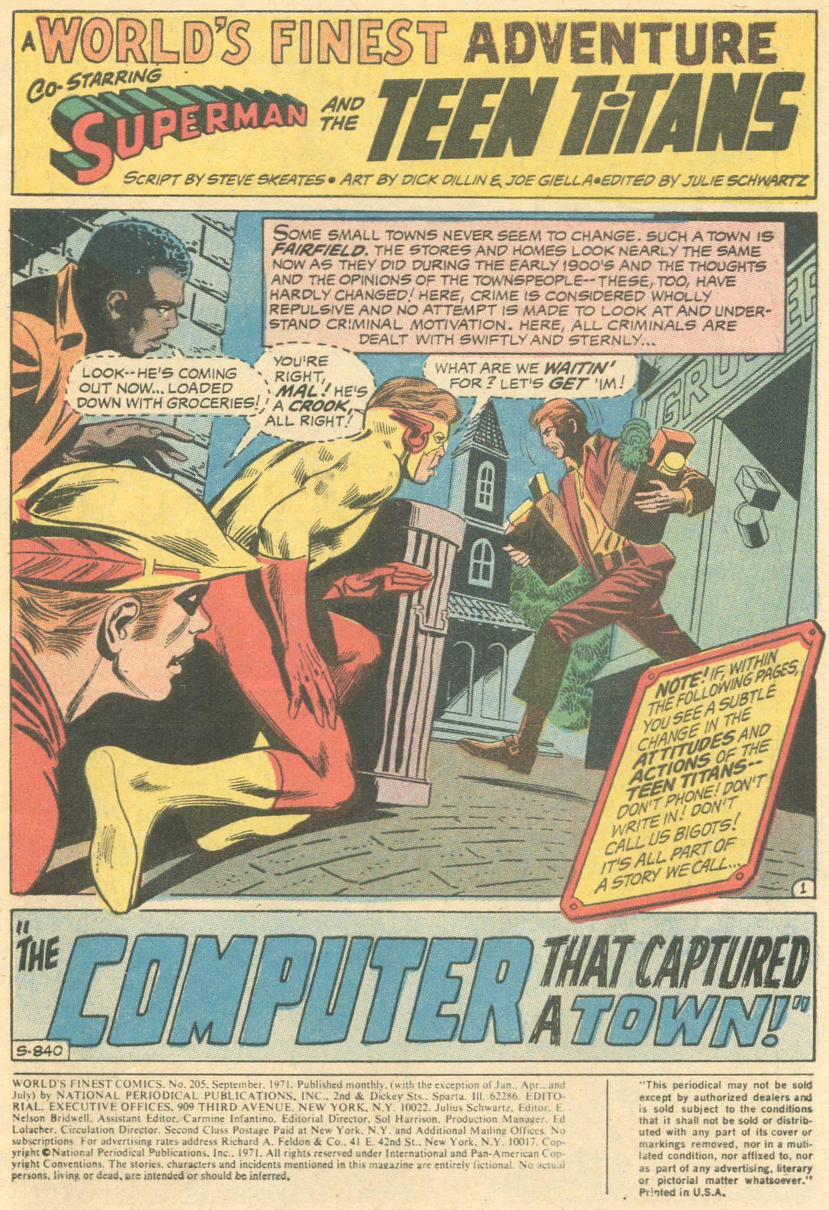 Read online World's Finest Comics comic -  Issue #205 - 3