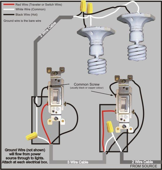 Electrical And Electronics Engineering  3 Way Switch Wiring Diagram