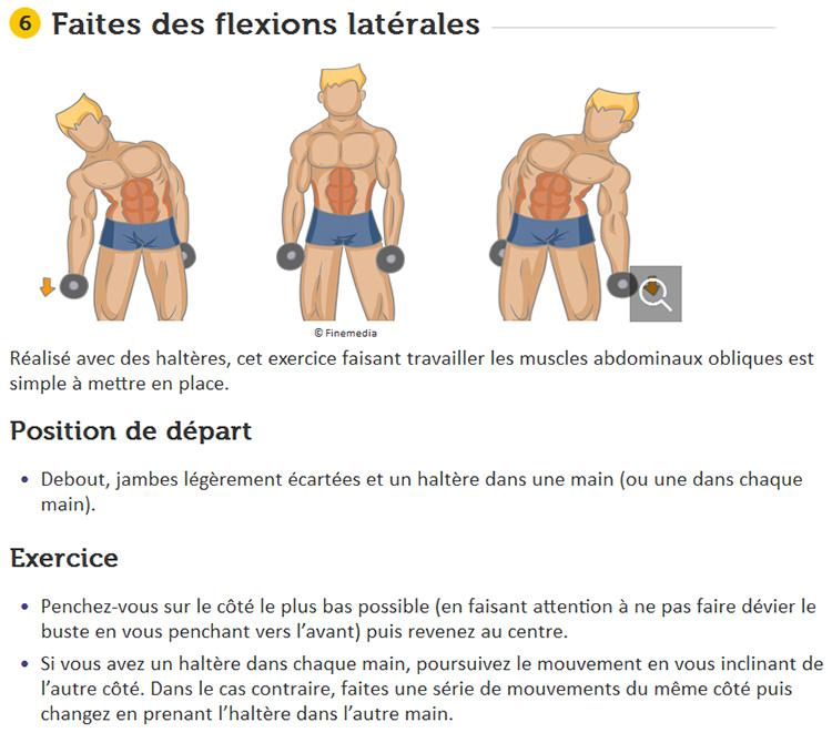flexions latérales